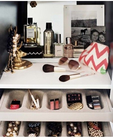 Store it: Beautiful cosmetics and makeup storage ideas- dropdeadgorgeousdaily.com