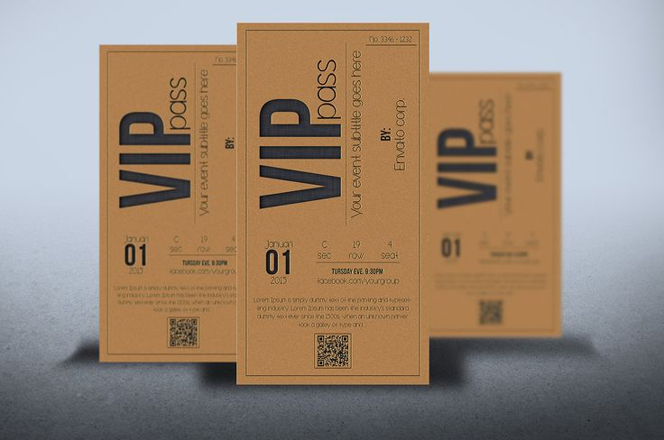 Multipurpose VIP PASS card by Tzochko on Creative Market