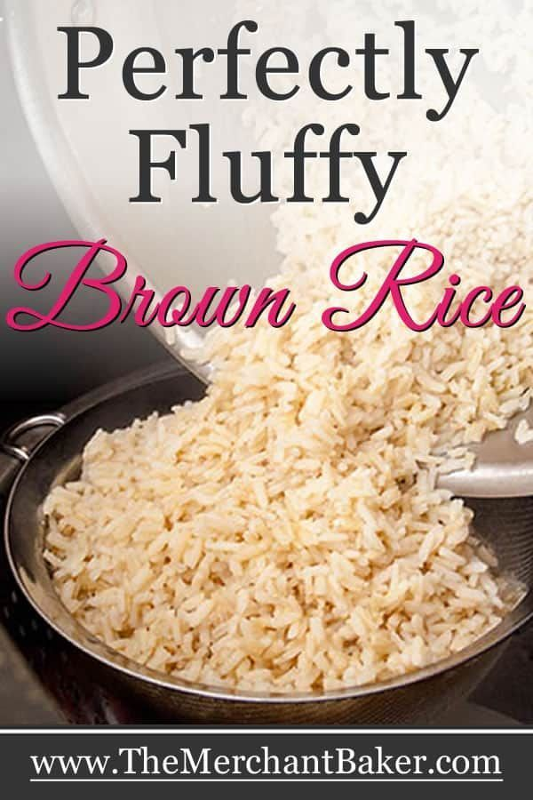 Perfectly Fluffy Brown Rice Recipe Brown Rice Recipes Easy Brown Rice Cooking How To Cook Rice
