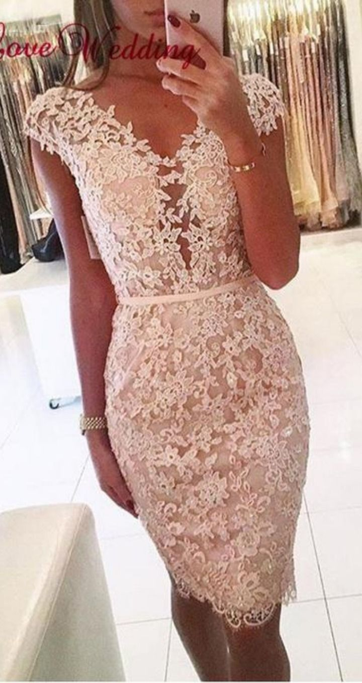 Sleeves Lace Applique Cocktail Dress in 16  Homecoming kleider