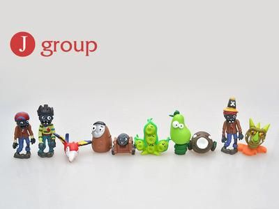 Free shipping Plants vs Zombies Toy 5-10cm PVC Collection Plants Zombies Figure Toys Gift boys girls birthday party