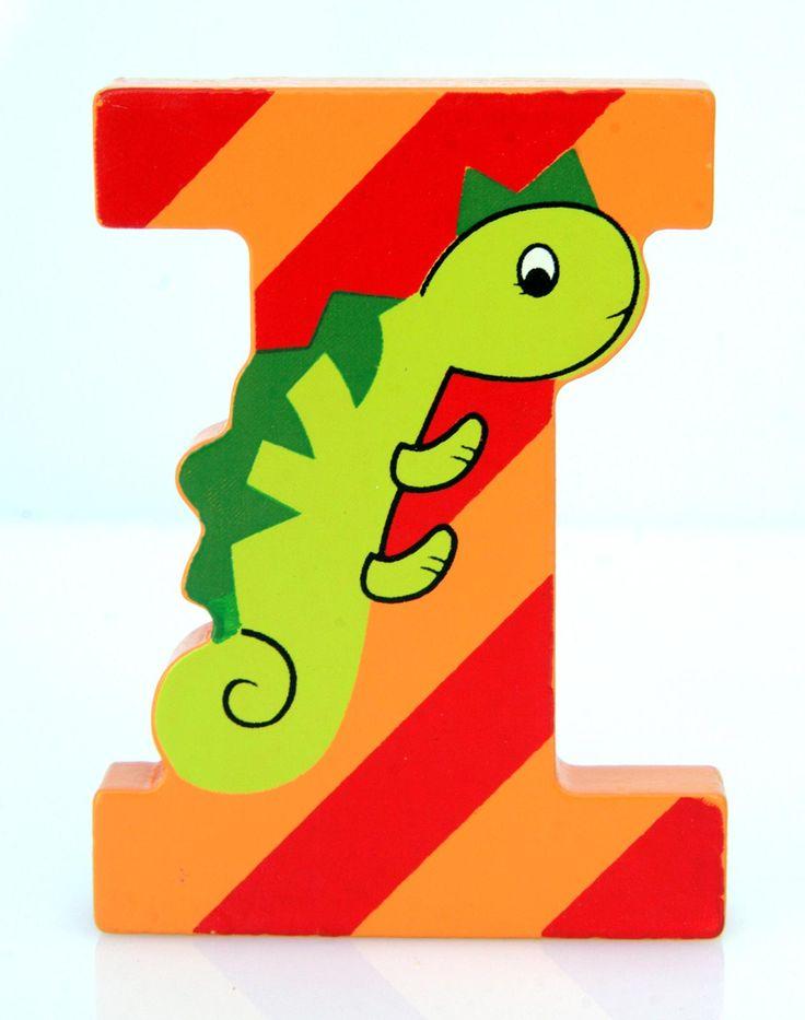 Simpatica lettera I in Legno con l'aspetto di una Iguana, per decorare e rendere più bella la cameretta componendo nomi, frasi. Sono disponibili tutte le lettere dell'alfabeto  Si puo' fissare con colla, biadesivo oppure Può essere appoggiata su una mensola oppure si puo' fissare con colla o biadesivo o possono anche essere utilizzate per giocare.  Dimensioni cm 5,5 x 7 x 1  Materiale: Legno.   I colori possono cambiare in base alle disponibilita'