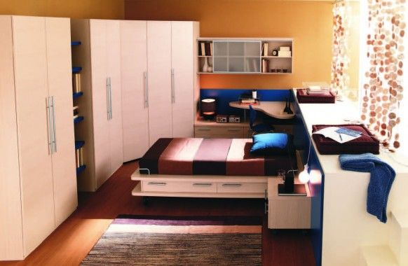 Amusing Design For Room With Cream Wall Design And Modern Stylish Furniture With Impressive Cupboard Design Idea