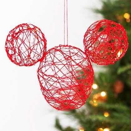 Décoration Mickey Mouse réalisée avec de la ficelle