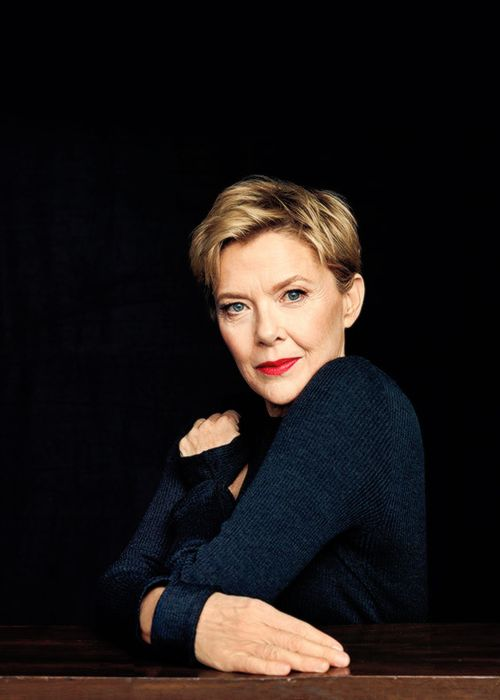 Annette Bening photographed for The Hollywood Reporter.