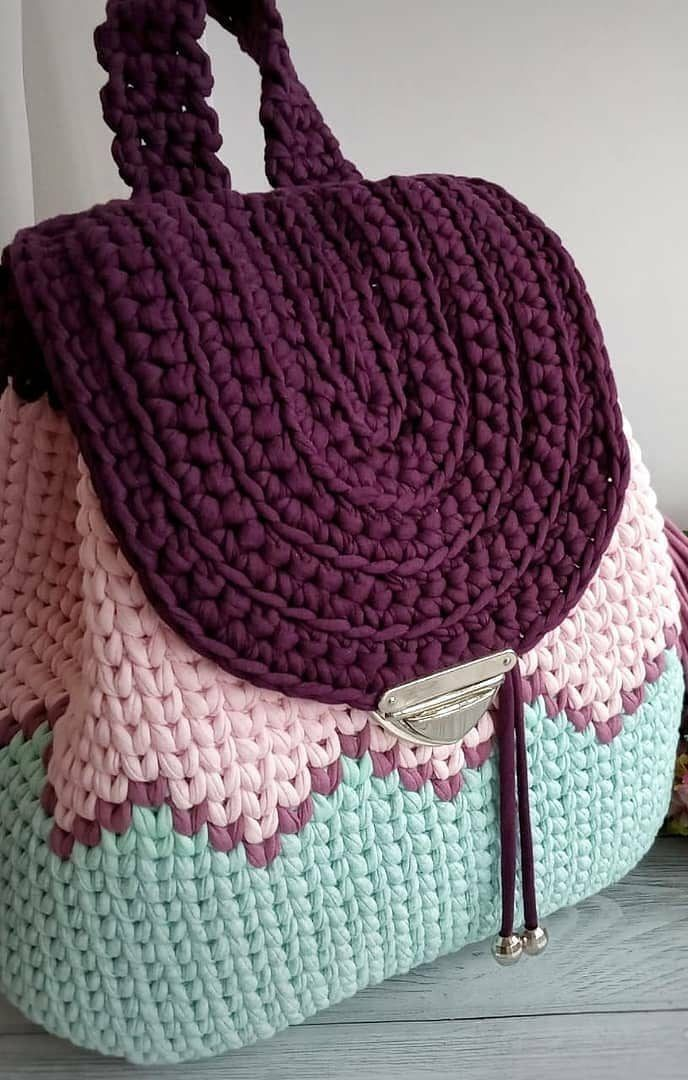 20+ THE MOST WONDERFUL FREE CROCHET BAG MODELS 2019 – Page 27 of 28