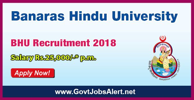 "BHU Recruitment 2018 - Hiring Junior Research Fellow (JRF) Post, Salary Rs.25,000/- : Apply Now !!!  The Banaras Hindu University – BHU Recruitment 2018 has released an official employment notification inviting interested and eligible candidates to apply for the positions of Junior Research Fellow (JRF) in a SERB sponsored Project entitled ""Effects of dietary Ayurvedic Rasayanas on the innate immune response in Drosophila melanogaster"".   #2018 #ApplyforJRF #BanarasHind"