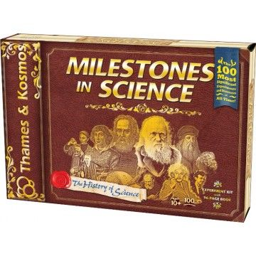 Milestones in Science Experiment Kit - A great kit for young scientists and historians alike to not only learn about some of the greatest scientists of all time but also to conduct over 100 of some of the most important scientific experiments and discoveries.