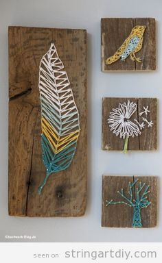 String Art Ideas | String Art DIY | Tutorials, videos and free patterns to do String Art DIY