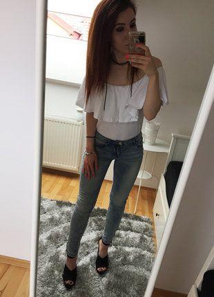 Kup mój przedmiot na #vintedpl http://www.vinted.pl/damska-odziez/dzinsy-skinny/19115823-sliczne-spodnie-jeansy-rurki-marmurki-jasne-zlote-suwaki