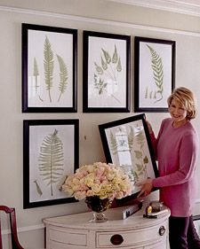 The process of hanging a new painting or a collection of family photos  can seem like a puzzle. But although there are pieces to examine, there  isn't just one correct way to put them together. As with every aspect of  decorating, it helps to understand the basic principles first, then  improvise -- the most pleasing arrangement may be the one you least  expect.