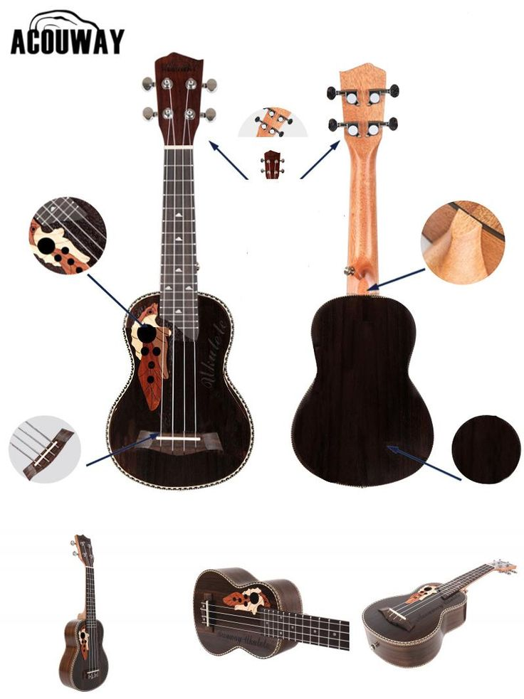 [Visit to Buy] Acouway Ukulele Soprano Concert Ukulele 21 23 rosewood uku Ukelele with Aquila String mini Hawaii guitar Musical Instruments #Advertisement