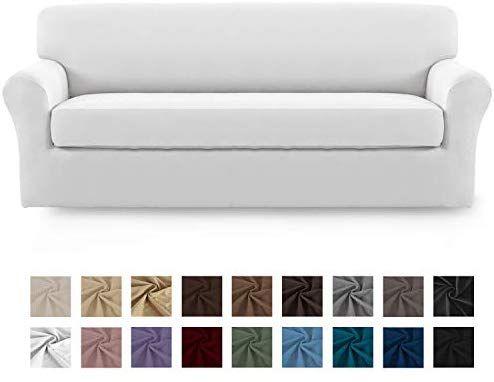 Amazon Com Easy Going 2 Pieces Microfiber Stretch Sofa Slipcover