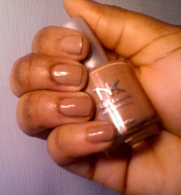 NK NAIL POLISH WITH HARDENERS 'Taupe Extreme' FROM NICKA K COSMETICS