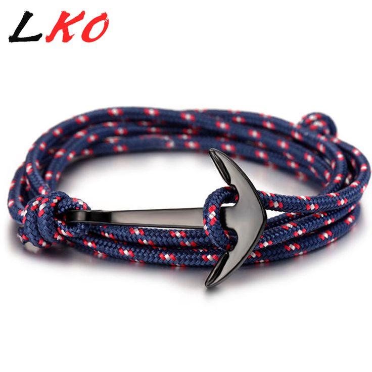 Cheap bracelets for, Buy Quality anchor bracelet directly from China bracelet multilayer Suppliers: LKO 2017 HOT  Alloy Anchor Bracelet Multilayer Rope Bracelet for Women&Men Friendship Bracelets High Quality tom hope