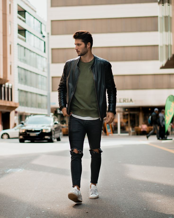 how to wear a leather jacket - visit for more information