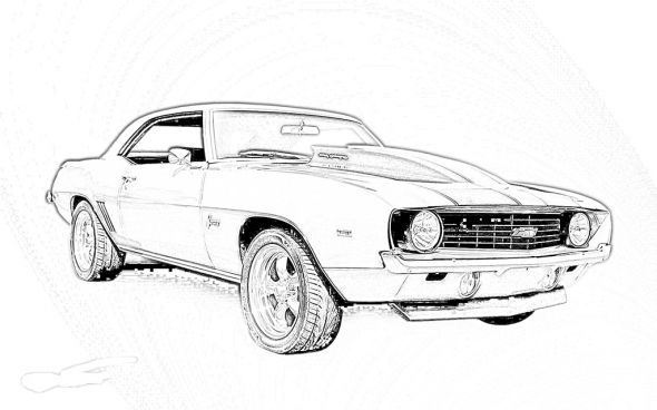 Cars Chevy Camaro Coloring Pages Pictures Tattoos And