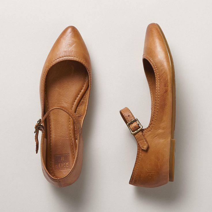 REGINA MARY JANE SHOES--From Frye® comes a timeless classic you'll wear for years to come, in burnished leather with delicate ankle strap. Imported. Whole and half sizes 6 to 10, 11.View our entire Frye Collection