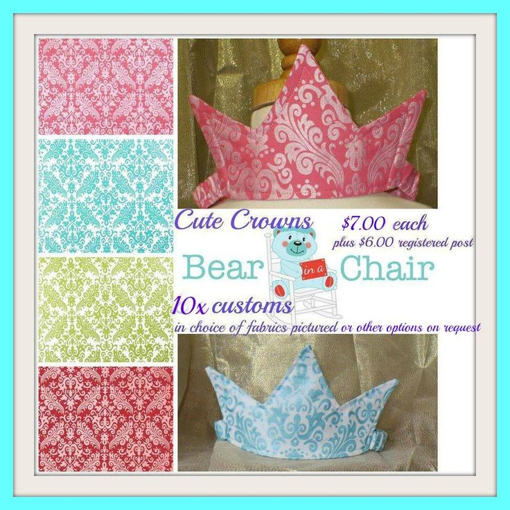 Handmade By Bear In A Chair Cute and Comfy Crowns