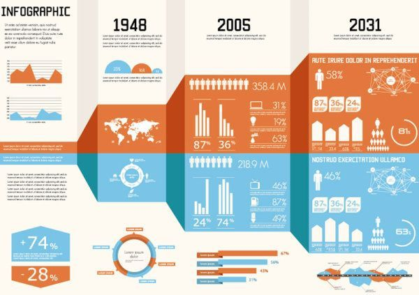 10+ Free Infographics Design Sets in Vector Format