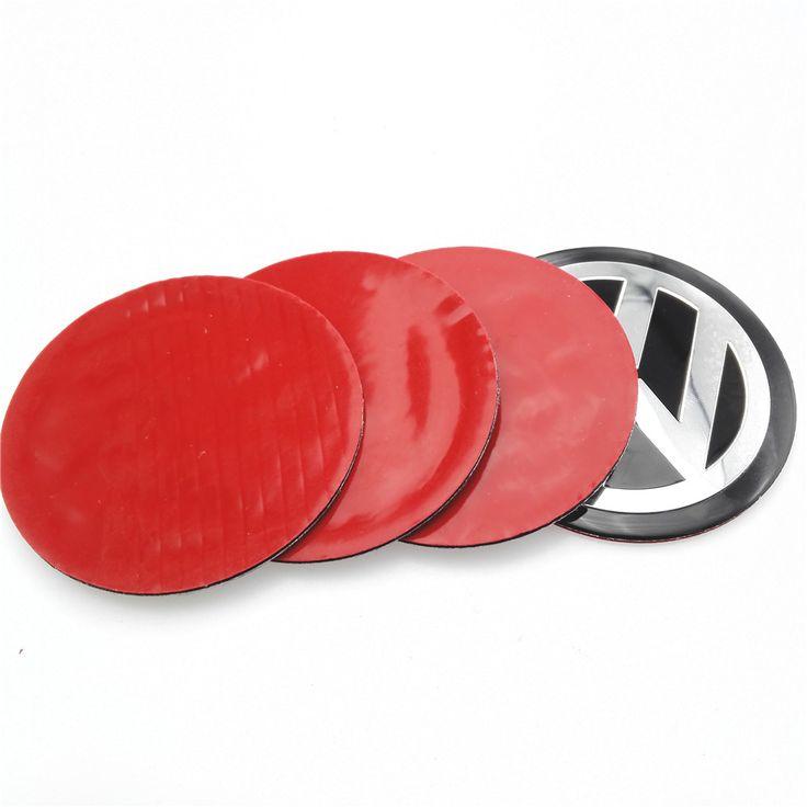 2015 4 Unids Pegatinas VW del Centro de Rueda de Coche Encaja Hub Cap Pegatinas 60mm del centro de rueda emblemas para VW polo golf passat b5 touran bora