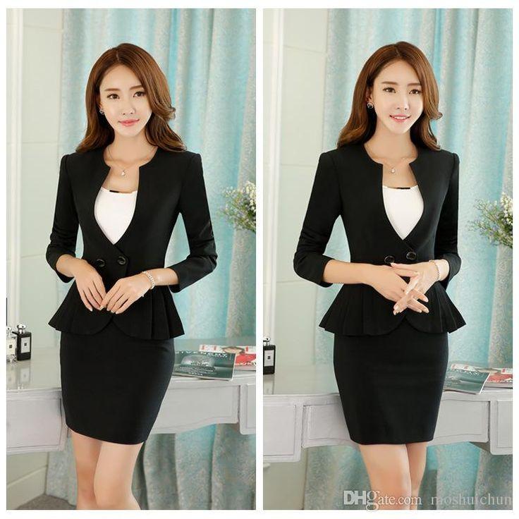 Plus Size 4XL Womens Business Suits All-match Female Blazers Jackets Slim Long Sleeve Women Blaser Mujer