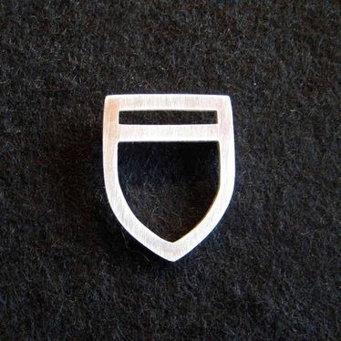 House of craft shield brooch by Genevieve Packer | Clever Bastards