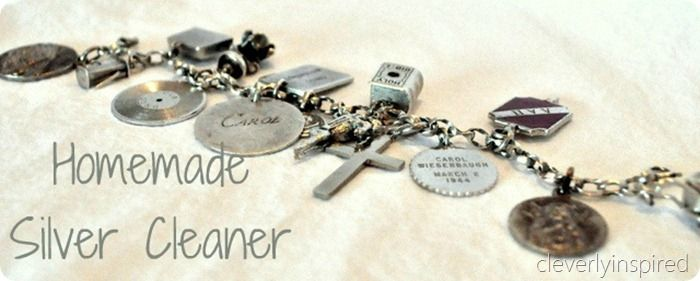 Homemade silver jewelry cleaner @cleverlyinspired