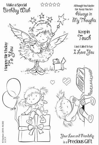 Kanban Crafts - All About Her Collection - Clear Acrylic Stamps - Lucy at Scrapbook.com $11.24