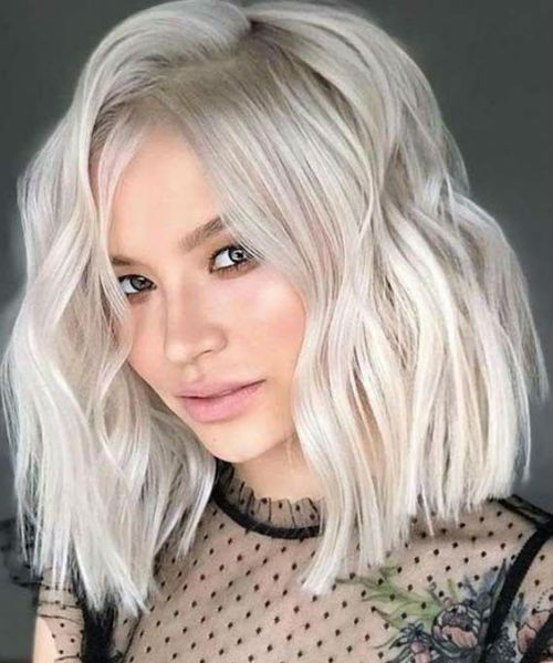 Featured Icy Blonde Shoulder Length Edgy Haircuts For