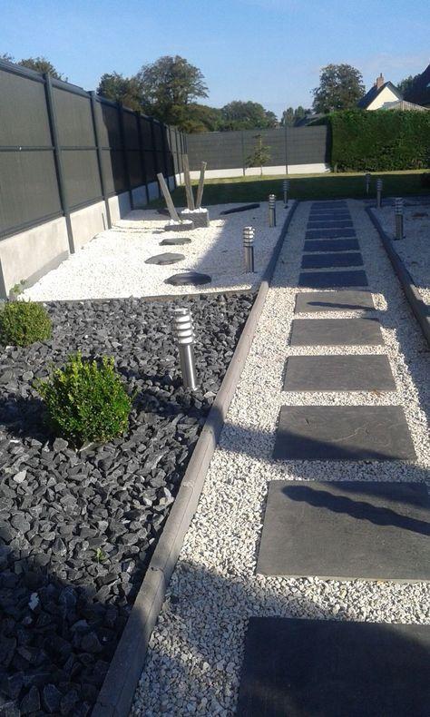Les 25 meilleures id es concernant jardin en gravier sur pinterest concepti - Comment poser geotextile jardin ...
