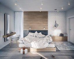 PROJEKT KOMPLEKSOWY DOMU JEDNORODZINNEGO - Duża sypialnia małżeńska, styl nowoczesny - zdjęcie od Kunkiewicz Architekci