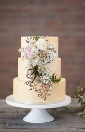 Blush Pink, Romantic & rustic wedding cake