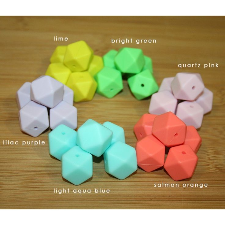 Silicone beads in over 40 colours to choose from!