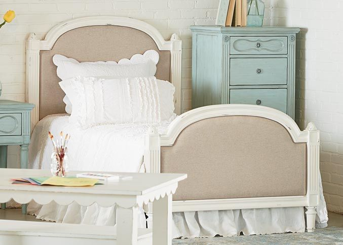 Magnolia Home Sisters Twin Upholstered Bed The French