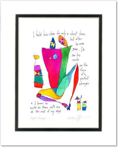 perfect stranger masculine StoryPeople print by Brian Andreas