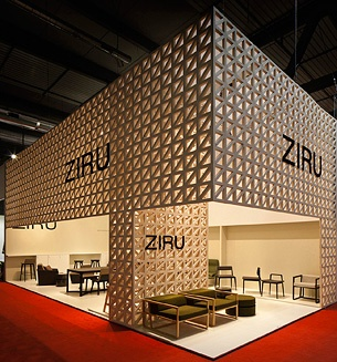 STAND ZIRU / IL SALONE/ MILANO/ ITALY  Screams crisp & clean! Nice work!