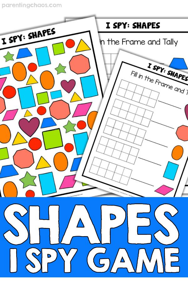 I Spy Shapes Printable Game For Kids With Images Printable