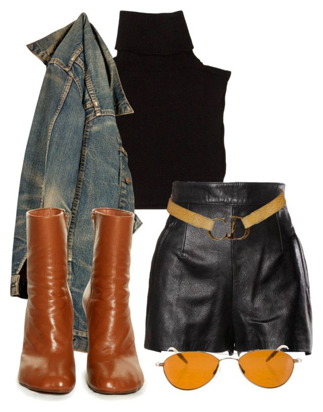 """""""Untitled #1372"""" by wavvy-k ❤ liked on Polyvore featuring Marc Jacobs, Moschino, Vetements, Christian Dior and Oliver Peoples"""