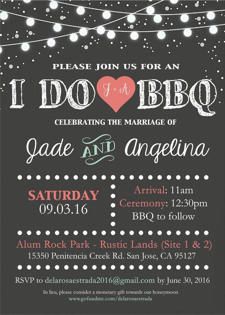 I do BBQ wedding invitation by me                                                                                                                                                     More