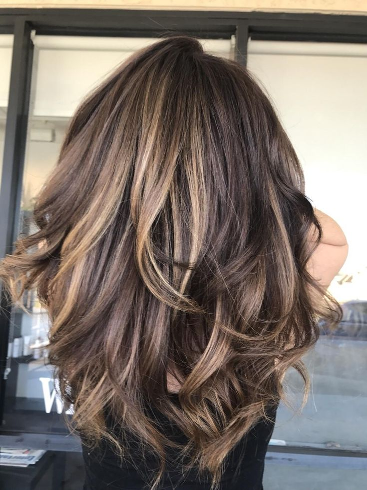 Color Partial Highlight And Blow Dry 175 Chocolate