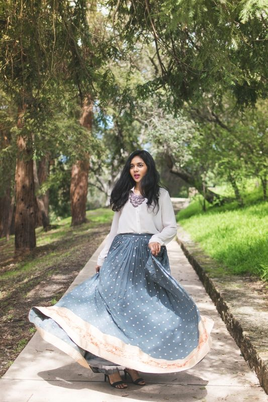 Ever considered buying a grey lehenga? Here's why you should if you didn't: it works with SO many colors, all you gotta do is get a couple extra blouses made instead of new outfits!