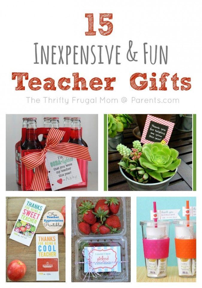 Inexpensive Cheap Teacher Gift Ideas