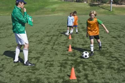 Fun Soccer Practice for Kids...mentions freeze tag