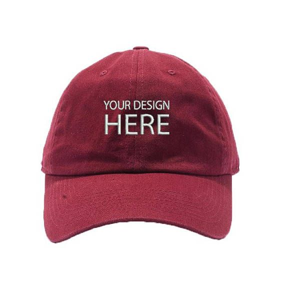 Custom Hat / Maroon Dad Cap / Personalize your Design / Embroidery Baseball Cap / Choose Your Text Style / Thread Color / FREE SHIPPING!