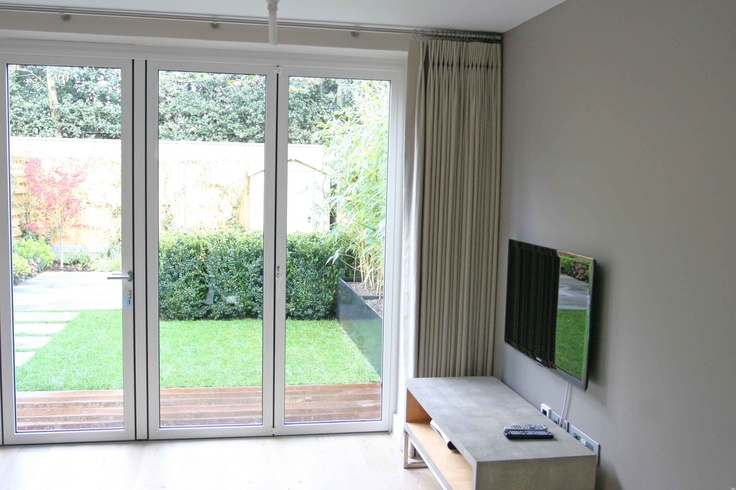 Curtains for Bifold Doors and Sliding Doors on Pinterest Folding . ... & Curtain for folding door ~ Decorate the house with beautiful curtains