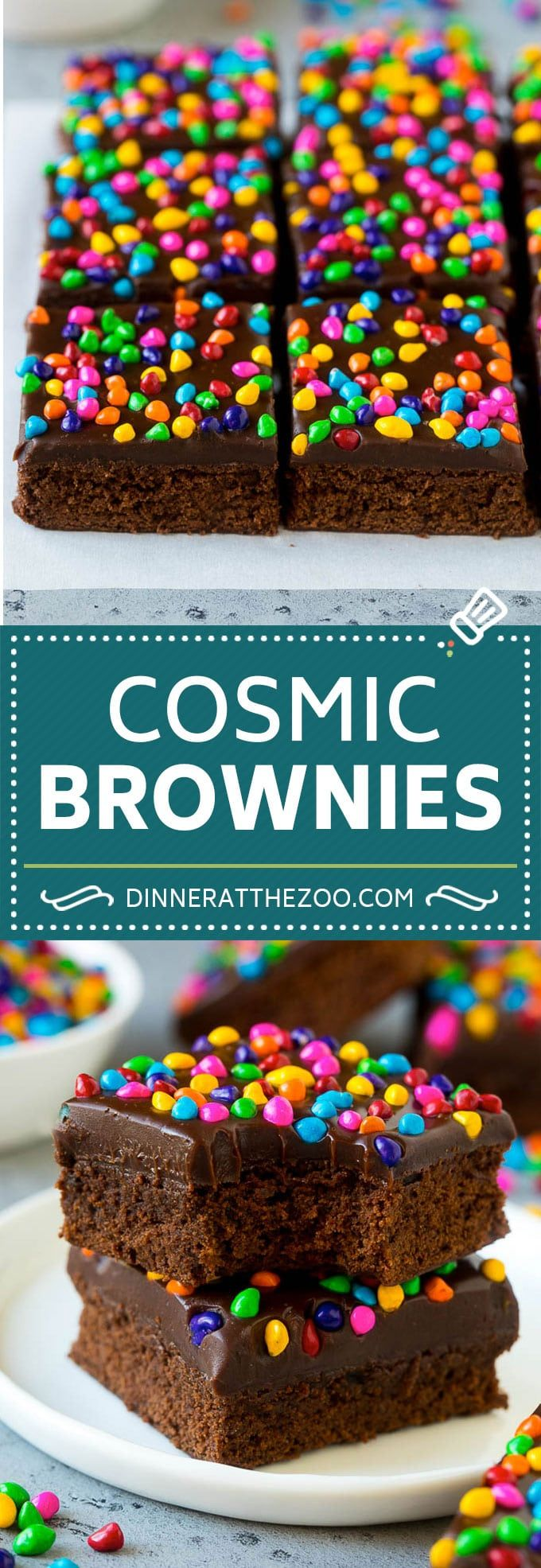 Cosmic Brownies Recipe | Cocoa Brownies | Frosted …