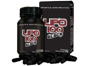 Emagrecedor Termogênico Lipo 100 Black 60 Cápsulas - Intlab
