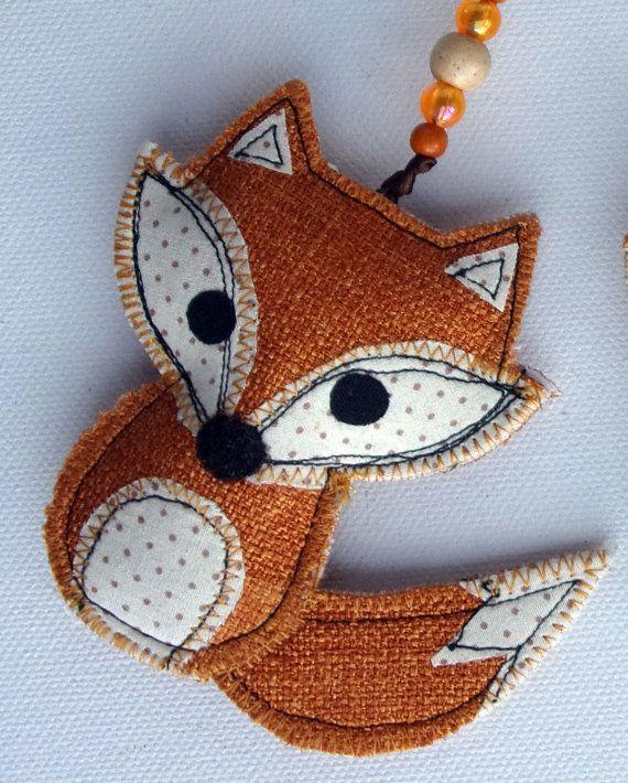 Fox Christmas Ornament. Fabric Fox Christmas Tree by SwinkyDoo