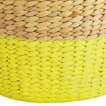 Round Tapered Basket - Yellow